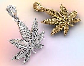 3D print model marijuana leaf