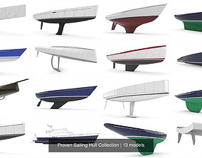 Proven Sailing Hull Collection boat 3D model