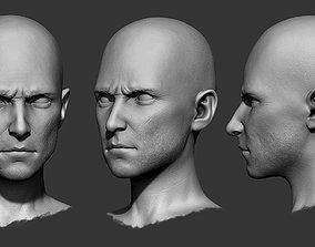3D model up Male Head