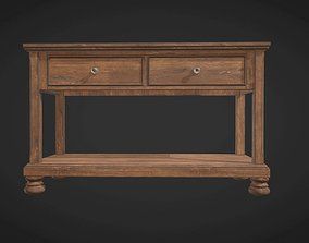 3D asset VR / AR ready Wooden Console for entrance hall