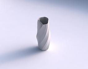 Vase arc hexagon with bands 3D print model