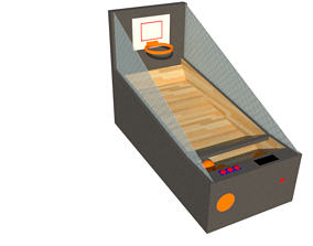 Arcade Basketball Machine 3D