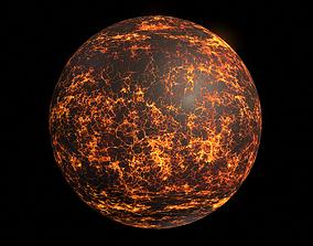 3D model Lava Planet 01