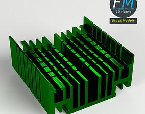 3D model CPU radiator