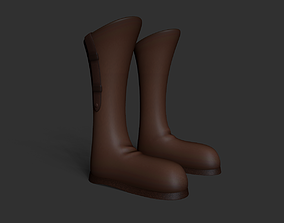Leather Boots - Cowboy - Farmer - 3D model