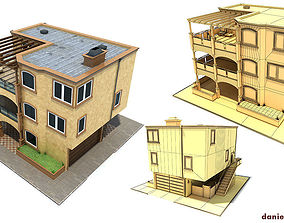 Family House San Francisco Brown 3D model