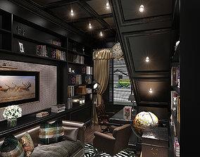 Colonial Interior Cabinet 3D model