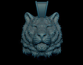 3D printable model milling Tiger pendant