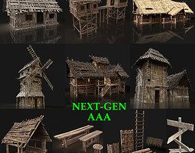 Next Gen AAA Village Builder town 3D model