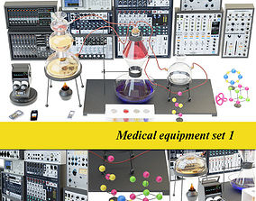 Medical laboratory set 1 3D