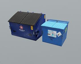 3D model Industrial Bins
