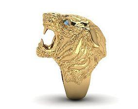 rings 3D printable model tiger