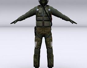 Fighter pilot 3D model