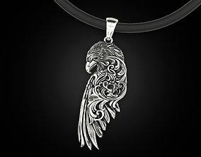 Raven wing pendant 3D printable model