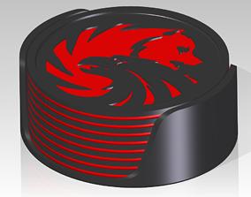Liquor Coasters set 3D printable model