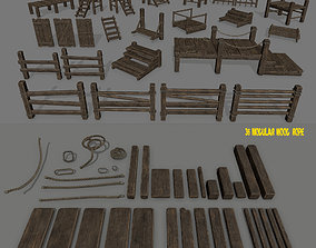 3D model woods and ropes