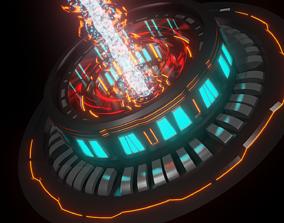 3D asset Sci-fi Rocket Engine