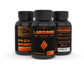 Premium L Arginine 1500mg Nitric Oxide Supplement 3D