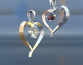 Golden heart 3D printable model