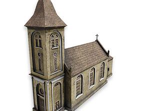 3D asset Post apocalyptic church