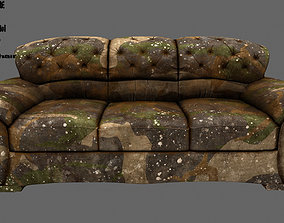 Armchair design 3D asset low-poly