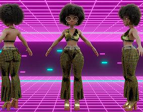 3D Model girl morena afrodisco