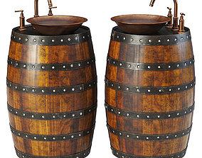 Barrel sink 3D