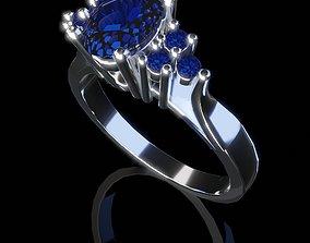 3D printable model Ladies diamond blue sapphire ruby 2