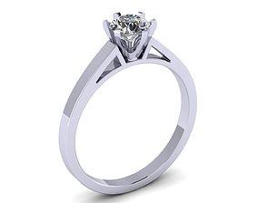 3D print model ring female 5mm stones single stone ring