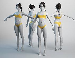 Female Basemesh 01 3D asset