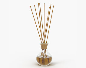 Air refresher bottle with sticks 06 3D model PBR