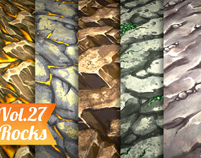 3D model Stylized Rock Vol 27 - Hand Painted Texture