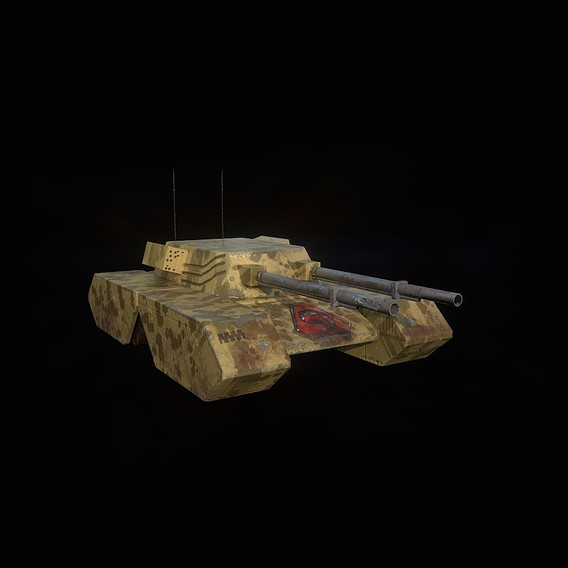 Tank Project Low poly PBR