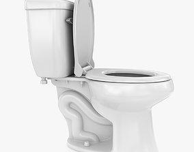 3D model game-ready PBR Toilet