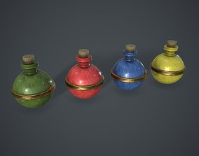 Bottle 3D model low-poly