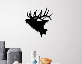 Deer head wall art 3D print model indoor