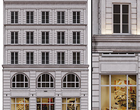 Paris Building Facade 3D