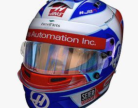 3D model Grosjean helmet 2018