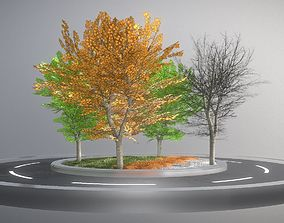 Tilia Trees - Cropped Branches - All Seasons - 3D model 2