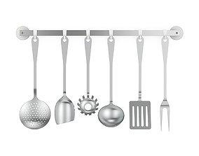 Alessi JM19 kitchen cutlery set 3D