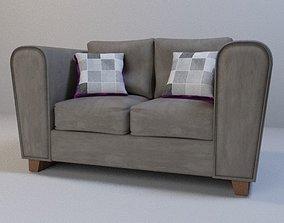 Suede sofa 3D