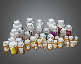 HPL - Pill Bottles PBR Game Ready 3D asset