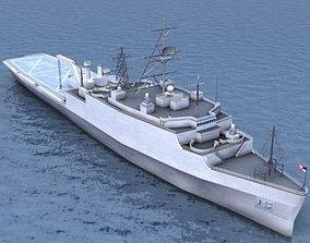 LPD4 Austin Assault Ship 3D asset