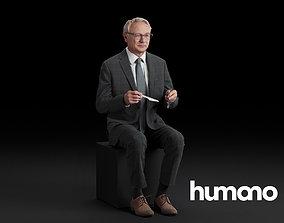 Humano Sitting man 0618 3D model