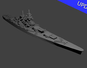 3D printable model French Richelieu Class Battleship
