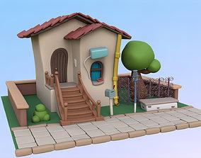 3D Stylized Cartoon House