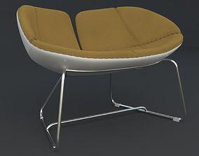 Fjord Armchair Brown Iray piu 3D model
