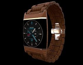 timer 3D model wood watch