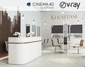 3D model VRay - C4D Scene files - Salon Scene