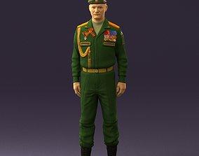 3D model Man in russian military uniform 0896